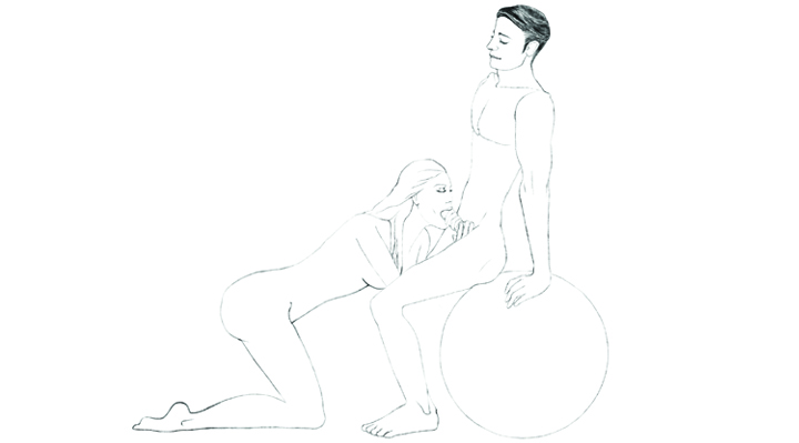 Bouncy Ball Sex 101 Position 1 - The BJ Bounce | Naughty Guide