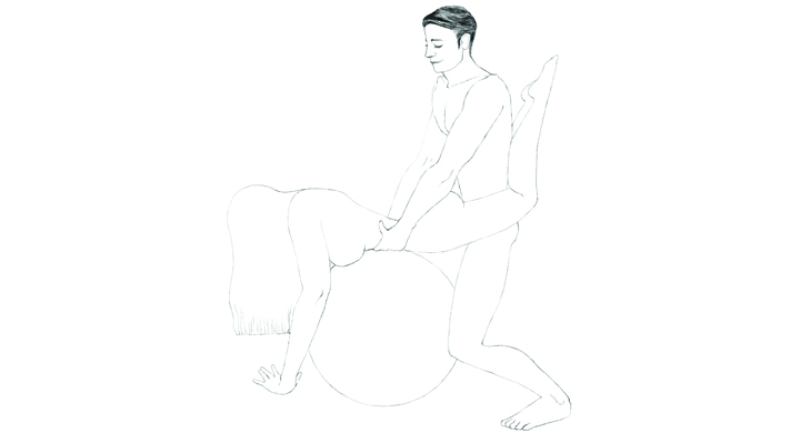Bouncy Ball Sex 101 Position 4 - The Rear Rocker | Naughty Guide
