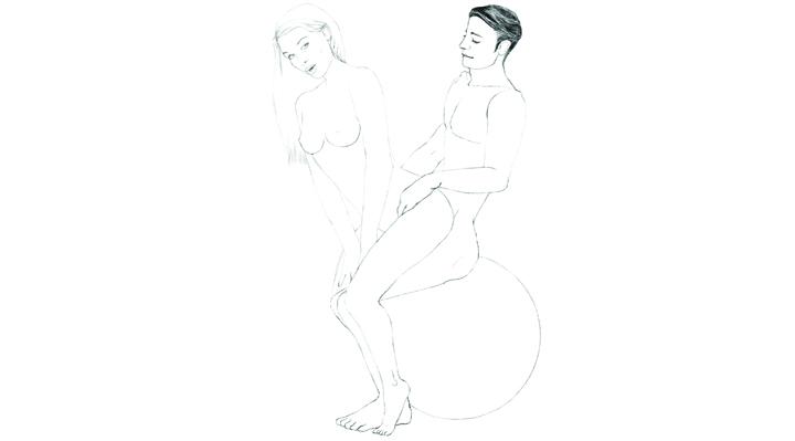 Bouncy Ball Sex 101 Position 9 - The Reverse Rocker | Naughty Guide